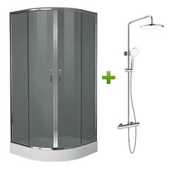 Душевая кабина Eger set20210220 + CENTRUM система душевая смеситель-термостат для душа (Т-15510)