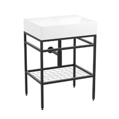 Комплект мебели LEON 60см, de la noche: тумба напольная + умывальник мебельный 1911.426007