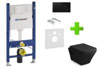 Система инсталляции для подвесного унитаза GEBERIT 458.126.00.1 + cмывная клавиша 115.770.DW.5 + унитаз TEO black 13-88-422black