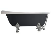 Ванна из материала литьевой мрамор 170 х 77 см Kerasan Retro + ножки хром и сифон