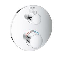 Термостат для душа с переключателем на 2 положения верхний_ручной душ Grohe Grohtherm (24076000)