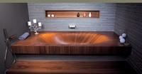Деревянная ванна Alegna Laguna Basic 190 х 95 см Mahagoni матовая, без панели