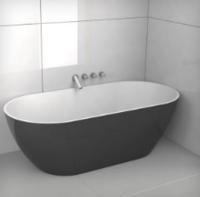 Ванна из литого мрамора 150 x 75 см Riho Barcelona с сифоном
