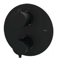 Смеситель-термостат для ванны/душа скрытого монтажа GRB Black на 3 потребителя 47130472 черный