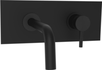 Смеситель для раковины настенный LIG101NO/М Paffoni Light (цвет - чёрный матовый), излив 175 мм