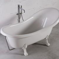 Ванна отдельностоящая Fancy Marble Lady Hamilton на белых ножках