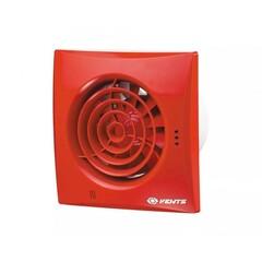 Вентилятор Вентс 100 Квайт красный (VENTS 100 Quiet red) бесшумный дизайнерский