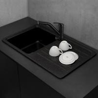 Прямоугольная гранитная кухонная мойка Fancy Marble Versal