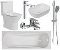 Комплект: Ванна-раковина-смеситель-унитаз-штанга 6 в 1 VOLLE ELLER 2